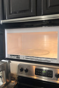 Before after cleaning microwave