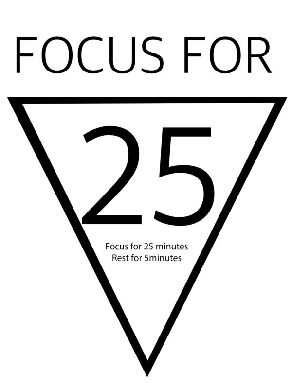 Focus for 25 minutes