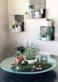 Decor vignette bowl that was repurposed with chalk paint