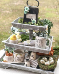 Tray decor for Spring