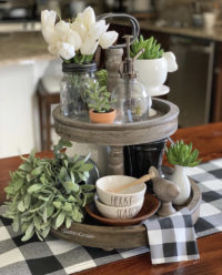 Styled Tiered Trays for Spring