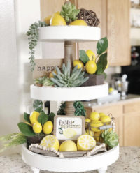 Beautiful Styled Spring Tiered Trays