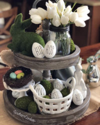 Beautiful Easter Tiered Tray Shelves