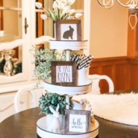 Spring Tiered trays