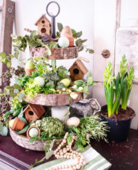 Inspiring Tiered Tray styled decor for Easter