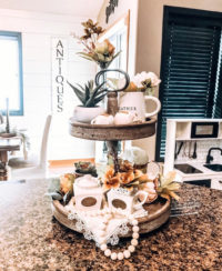 Spring decor ideas for tiered trays