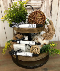 Inspiring Farmhouse tiered tray ideas for spring