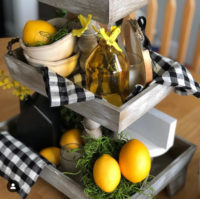 Beautiful tiered trays for spring