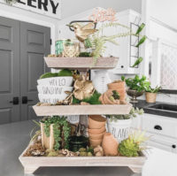 Over 30 Tiered Tray Ideas for spring