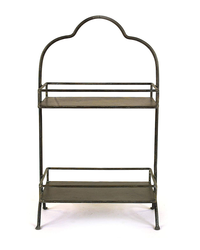 rectangle two tiered tray