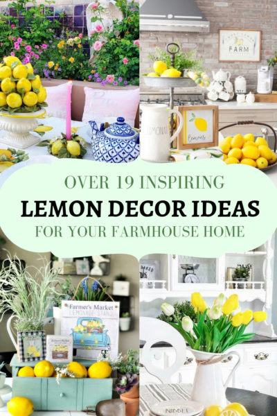 Inspiring lemon decor ideas for kitchen