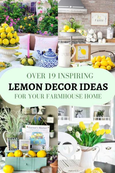 Inspiring lemon decor ideas for kitchen