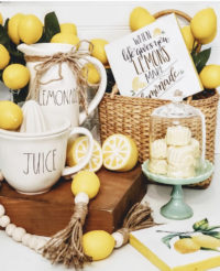 lemon decor and rae dunn