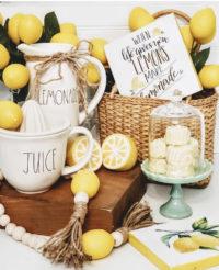 lemon decor and rae dunn
