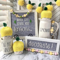 lemon decor beads