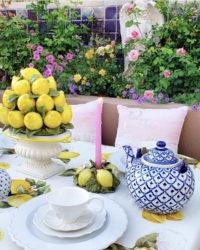 lemon decor tablescape