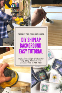DIY Shiplap Background for photography