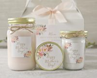 custom candle sets for mothers day