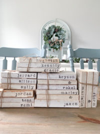 personalized stamped books etsy