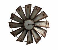 Metal Windmill Clock
