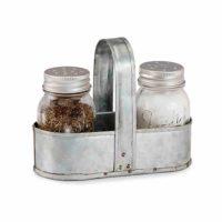Salt & Pepper Shaker w/ Caddy