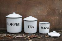 Metal Coffee Tea Sugar Containers