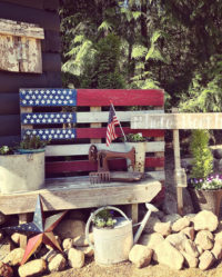 Flag made out of Pallet